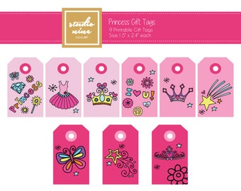 Princess Printable Gift Tag