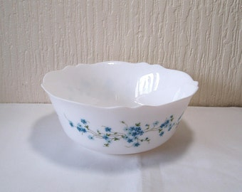 Vintage Arcopal Large French Pyrex  Serving Bowl Veronica Pattern
