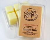 Lemon Verbena Scented Wax Cubes - Maximum Fragrance Wax Melts - Clean Lemony Citrus Aroma Candle Melts