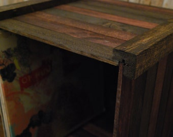 Wooden Record Crate or Vinyl Record Storage Crate