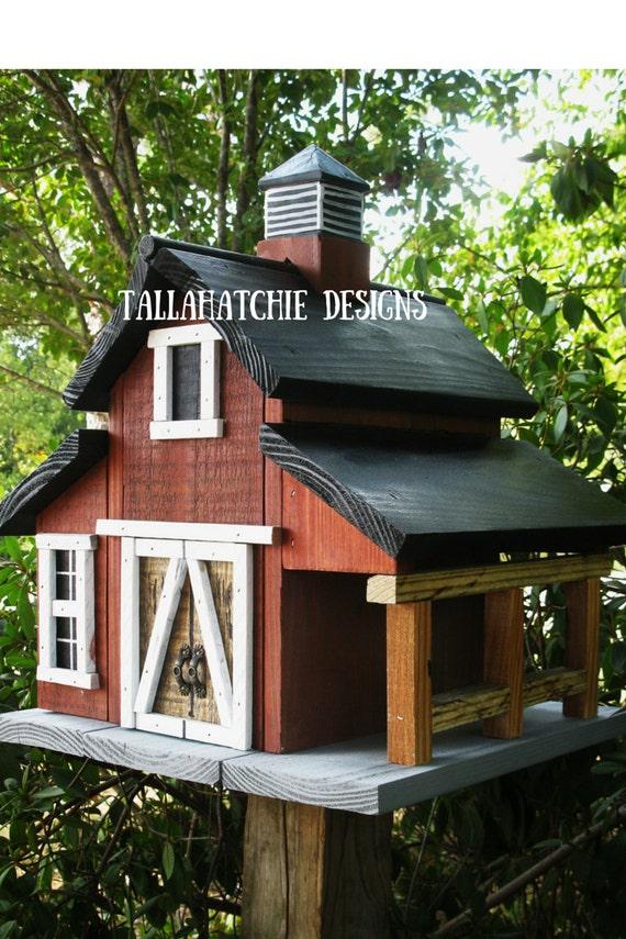 Birdhouse barn birdhouse rustic barn birdhouse for Primitive house plans