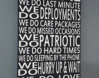 In This House We Do Army Strong Deployments Hand Painted Subway Style Distressed Wood Sign.Deployment sign Home Decor Wall Art