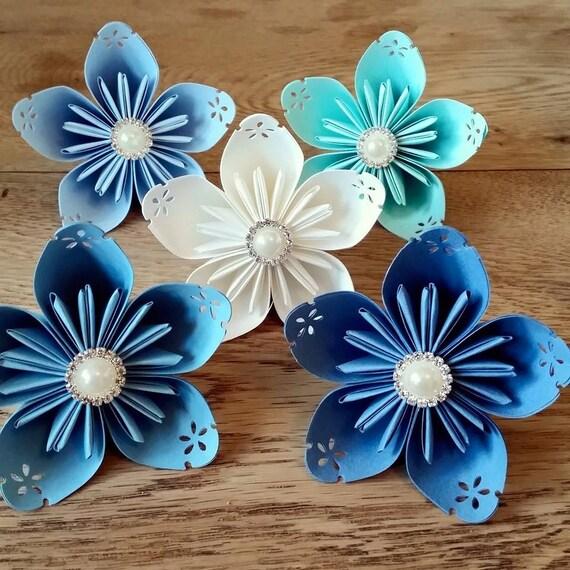 papier bouquet fleurs origami kusudama nuptiale par paperbouquetsco. Black Bedroom Furniture Sets. Home Design Ideas