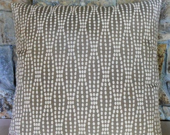 """Pearl Strands on Taupe Grey Pillow Cover//20"""" Custom Pillow Cover"""