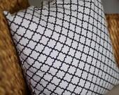 Quatrefoil Black & White Pillow Cover - 18X18, 20X20, 22X22