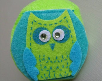 Childrens Kids Eyeglass Lazy  Eye Patch Cute Green Owl Right or Eye Lazy Eye Amblyopia