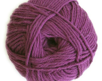 DK Weight Yarn, 100% Cotton Yarn by Knitca, Eggplant