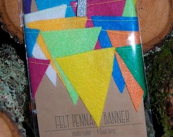 BANNER Multi-color Felt Banner, Felt Bunting
