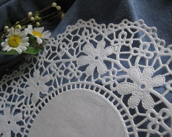 "10.5"" White DAISY Floral LACE Paper Doily 25 Pcs Round DIYS Wedding  Invitations Crafts  Wraps"