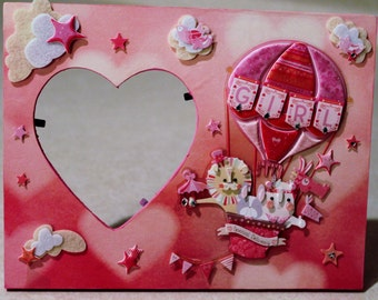 Baby girl/Infant/ Pink/ New Born girl /Picture frame