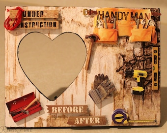 Handyman/ Under construction/Workman/ Homemade Picture frame