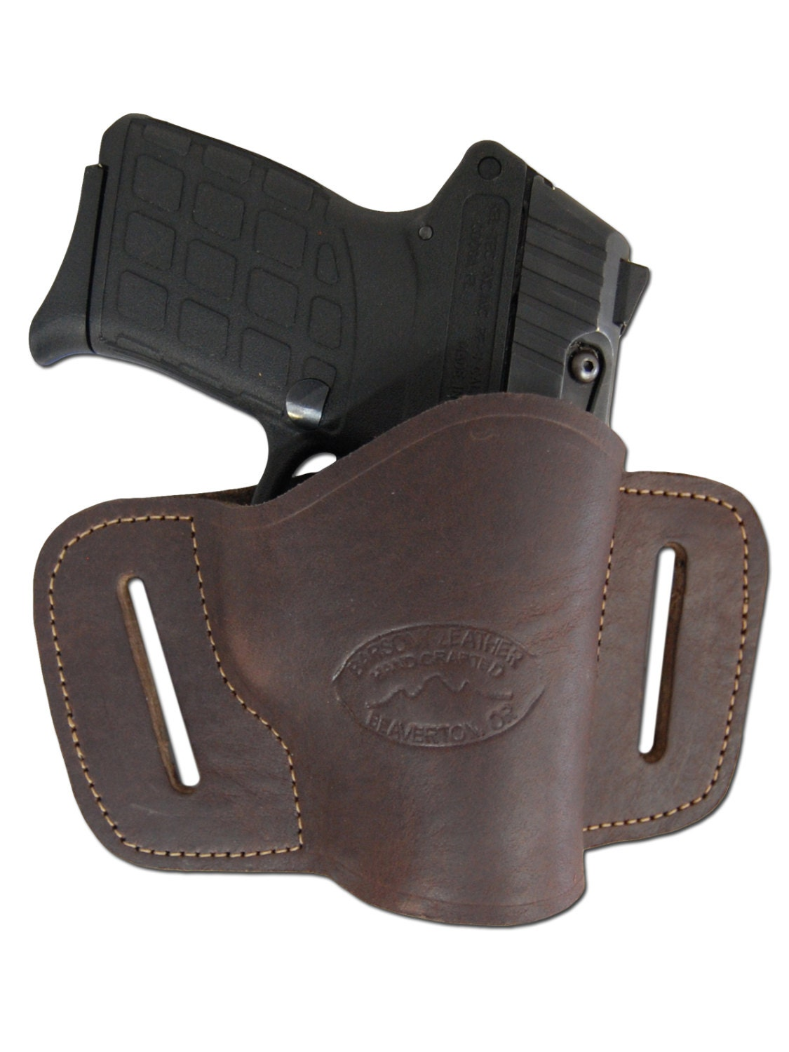 new brown leather belt slide gun holster for small 380
