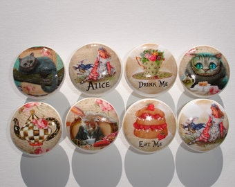 Alice In Wonderland Dresser Drawer Knobs Version 2- Set of 8