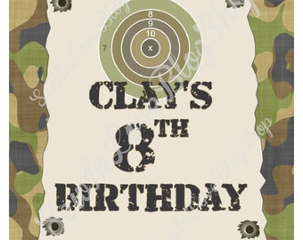 Camo Birthday Party - Sign