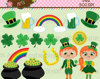 40% off St Patricks Day Digital Clip Art Instant Download