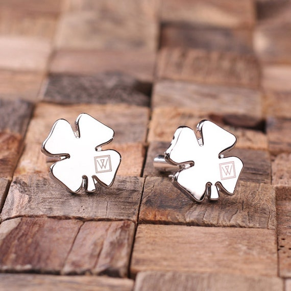 Personalized Shamrock Cufflinks from TealsPrairie