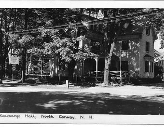 Vintage Postcard//Kearsarge Hall North Conway NH//Black and White