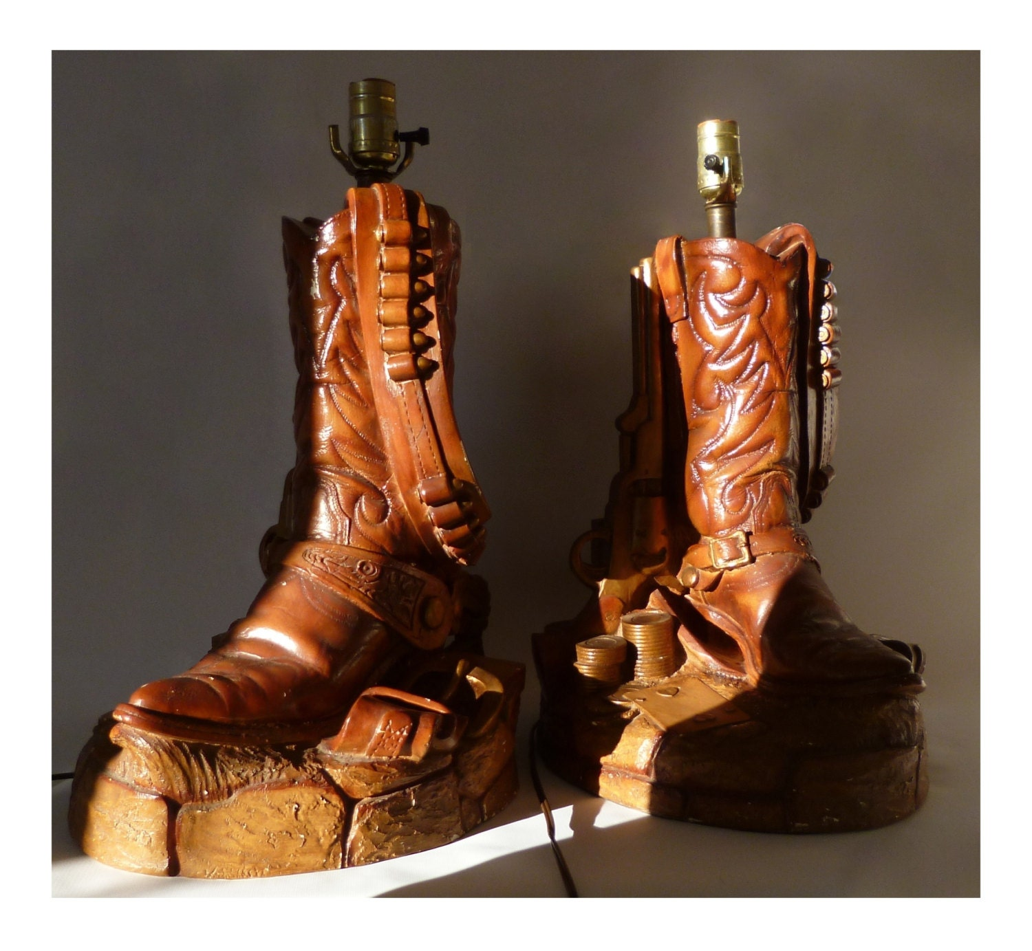 Free Shipping Cowboy Boot Lamps Set Of 2 Florentine Art