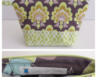 Large Zip Pouch Cosmetic Bag
