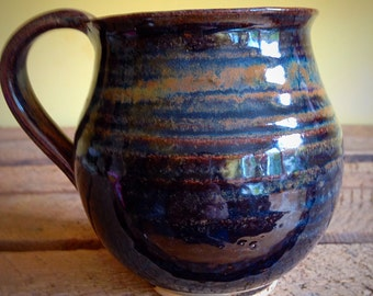 Pottery handmade mug Heather cup