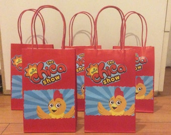 12 The Chica Show Birthday Party Favor Bags!!!