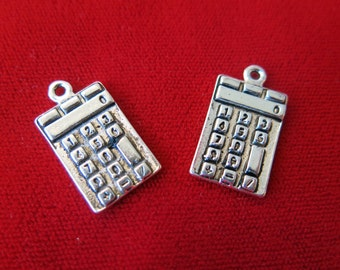 "10pc ""Calculator"" charms in antique silver style (BC305)"