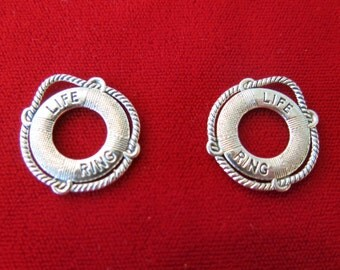 """8pc """"life ring"""" charms in antique silver style (BC444)"""