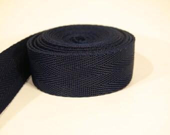 3 yards of 1 inch / 25mm dark blue webbing, strap (WB3)