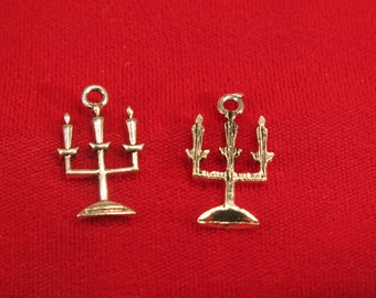 """10pc """"candle holder"""" charms in antique style silver (BC582)"""