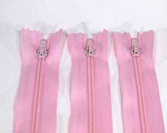 10pc zipper 30cm / 12 inch pink closed end (Z35)