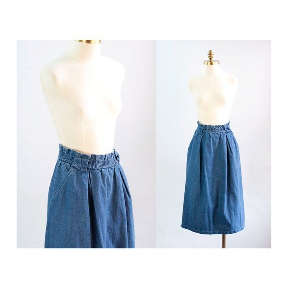 clearance denim midi length skirt with by