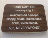Vintage Nautical Wall Hanging Captain Plaque Nautical Naughty
