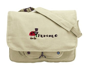 Humbug Embroidered Canvas Messenger Bag