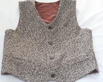 Baby tweed wool vest