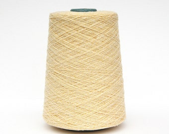 Cashmere/cotton tweed yarn on cone, per 100g