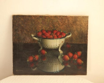 Charming Vintage Still Life Painting/Oil On Canvas Circa 1930's Signed Karel Wollens / Époque Vintage