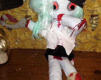 Zombie Pirate Girl Plush