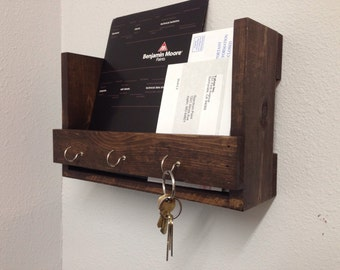 Entryway Organizer, Mail/Key holder, Mail Organizer, Wall Storage Shelf