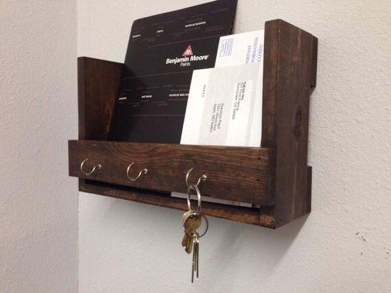 Key Holder Mail Organizer Wall Storage Shelf By