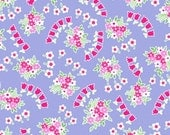 Sale - Pam Kitty Garden Fabric, Posie Swirls in Periwinkle, Half Yard, Lakehouse Dry Goods