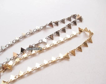 1 meter, Triangle, Brass chain, LB00331