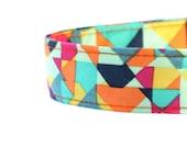 Modern Geometric Multicolored Dog Collar- DC-033