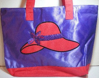 Purple Red Hat Lady Tote