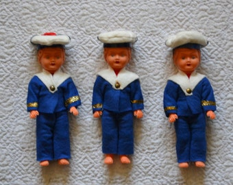 lovely miniature doll vintage French sailor