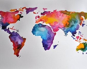 original abstract world map - photo #7