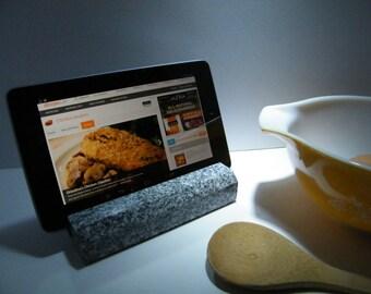 Stone IPad Stand Recipe Tablet Holder Recipe Holder