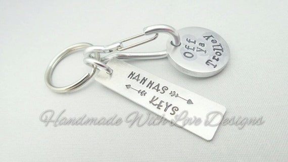 UK Trolley Token Hand stamped Keyring
