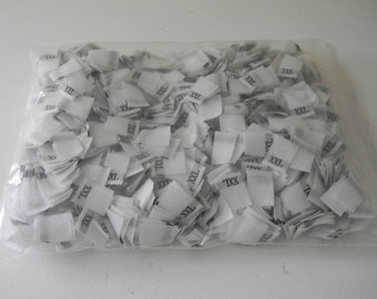 SALE**(1,000) Woven Clothing Tag Labels XXL