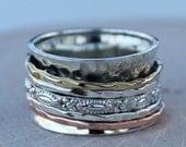 Spinning Ring, Meditation Ring, Statement Ring, Spinner Ring RIRI077