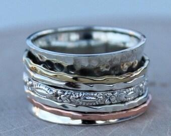 Spinning Ring, Meditation Ring, Statement Ring, Spinner Ring